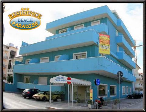 Beach paradise il residence 3 stelle rimini vista mare for Appartamenti rimini